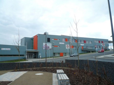 Passzívház iskola Frankfurtban