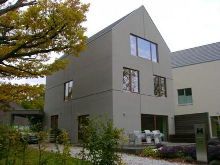 Földhőkosár került a német passzív családi ház kertjébe