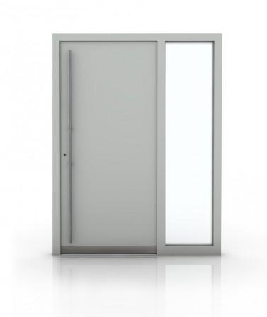 Ujjlenyomattal nyíló passzívház bejárati ajtó