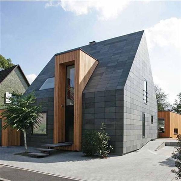 Trend az építészetben a palafedés a homlokzaton is