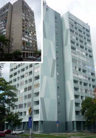 Nobasil FKD-S ásványgyapot szigetelés- 50 m magas épületen